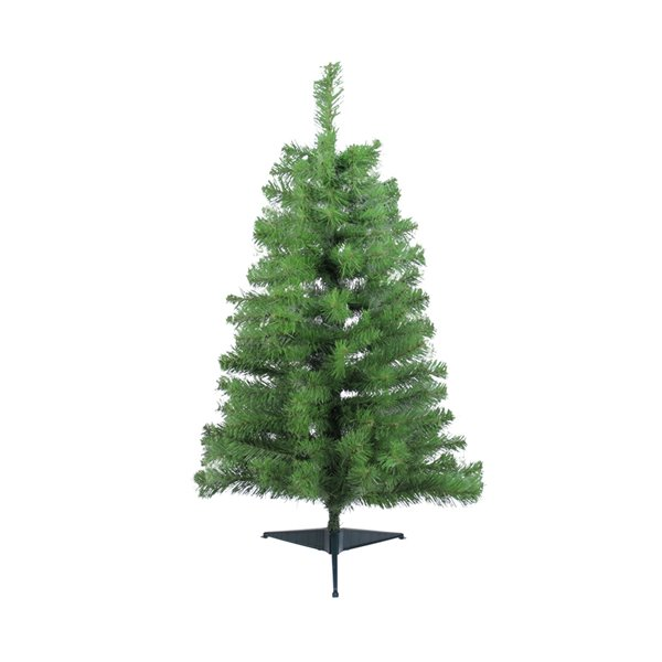 Northlight Traditional Noble Fir Medium Artificial Christmas Tree - Unlit - 3-ft