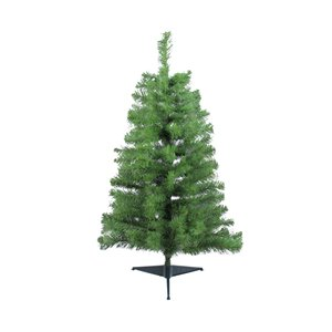 Northlight Traditional Noble Fir Medium Artificial Christmas Tree - Unlit - 3-ft
