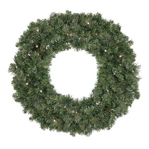Northlight Green Pre-Lit LED Canadian Pine Artificial Christmas Wreath - 30-in