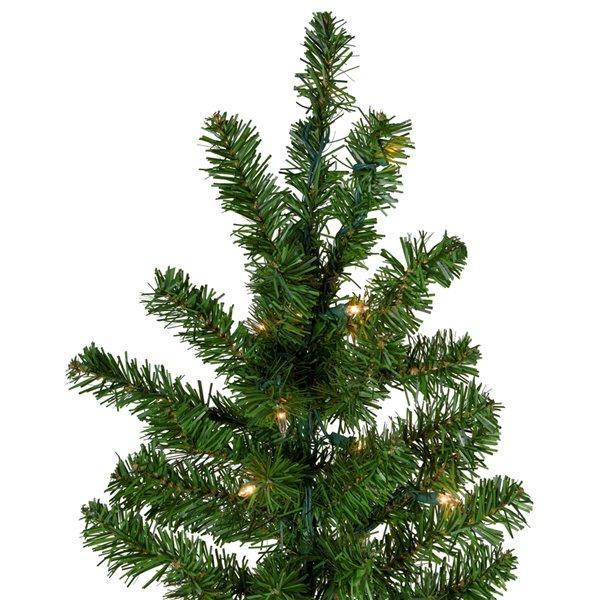 Northlight Pre-Lit Medium Canadian Pine Artificial Christmas Wall Tree - 7.5-ft