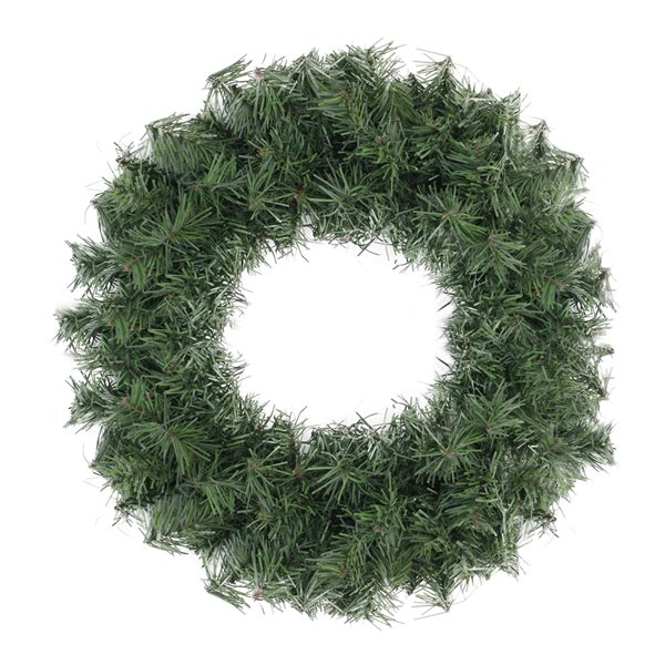 Northlight Green Canadian Pine Artificial Christmas Wreath - Unlit - 20-in