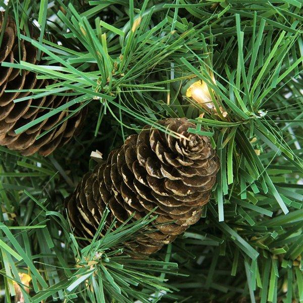 Northlight Pre-Lit Full Dakota Pine Artificial Christmas Tree - Dura-Lit Lights - 2-ft
