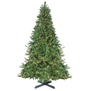 Northlight Pre-Lit Canadian Pine Commercial Artificial Xmas Tree - White Lights - 15-ft