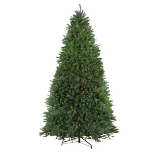 Northlight Pre-Lit Full Northern Pine Artificial Christmas Tree - Multicolor Lights - 9-ft