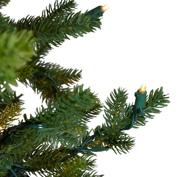 Northlight Pre-Lit Full North Pine Artificial Christmas Tree - Clear Lights - 6.5-ft