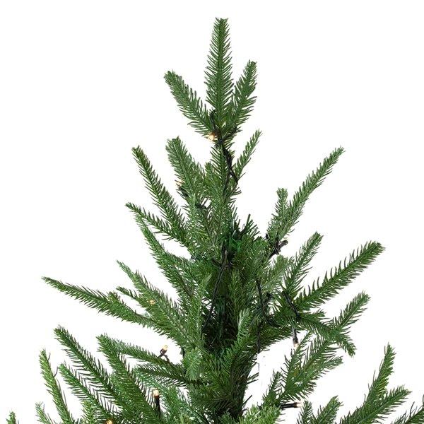 Northlight Pre-Lit Full Silverthorne Fir Artificial Xmas Tree - 6.5-ft