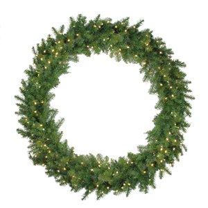 Northlight Pre-Lit Northern Pine Artificial Xmas Wreath - 48