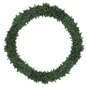 Northlight Pre-Lit High Sierra Pine Commercial Artificial Xmas Wreath - 120-in