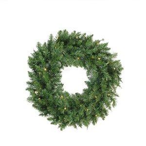 Northlight Pre-Lit Buffalo Fir Artificial Christmas Wreath - 24-in