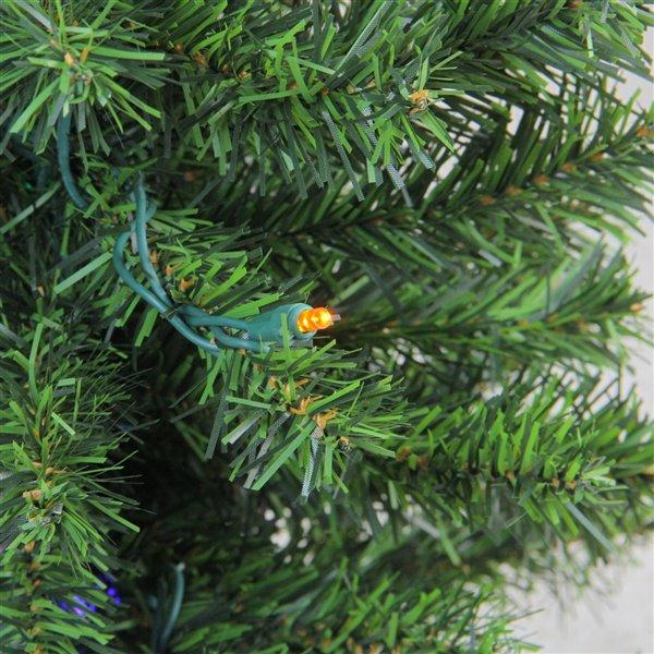 Northlight Pre-Lit Medium Canadian Pine Artificial Christmas Tree - Multicolor Lights - 2-ft