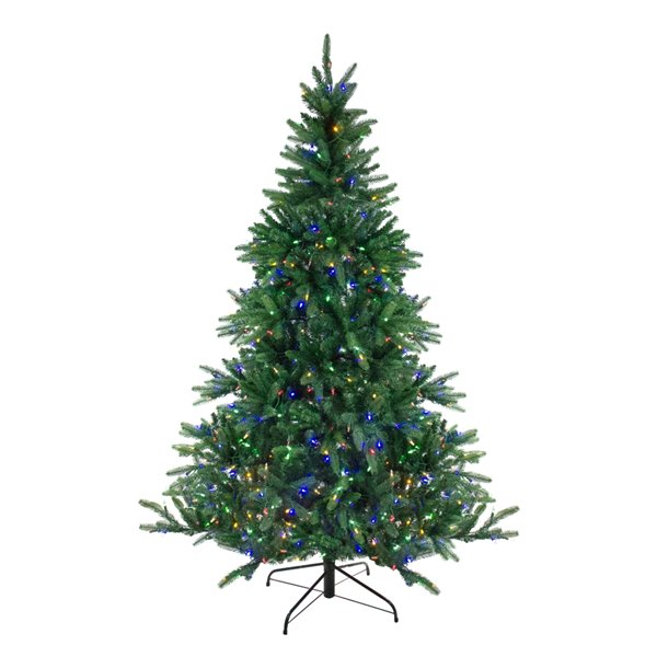 Northlight Pre-Lit Medium Instant Connect Noble Fir Artificial Xmas Tree - 9-ft