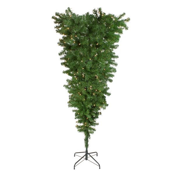 Northlight Pre-Lit Medium Spruce Upside Down Artificial Christmas Tree - 5.5-ft