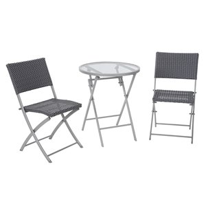 Cosco Outdoor Living 3-Piece Intellifit Dining Bistro Set - Gray