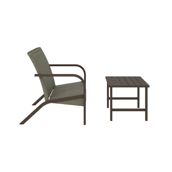 Cosco Outdoor Living SmartWick Patio Furniture Set with Loveseat - Gray