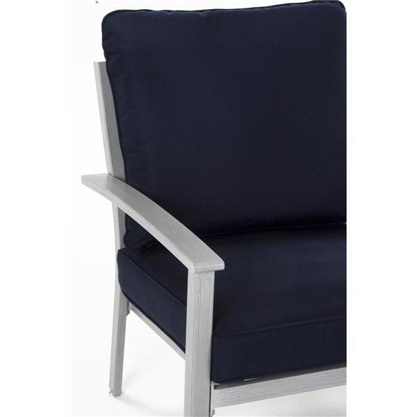 Chaises longues peintent à la main Cosco Living, bleu, 2 mcx
