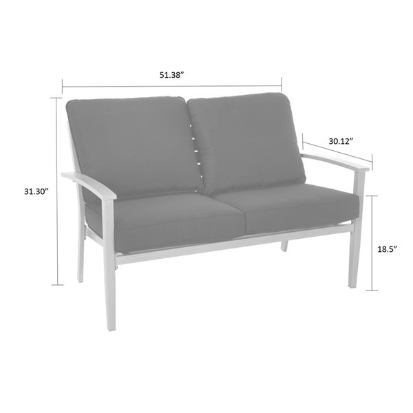 Cosco Outdoor Living Hand Painted Loveseat & Coffee Table - Blue
