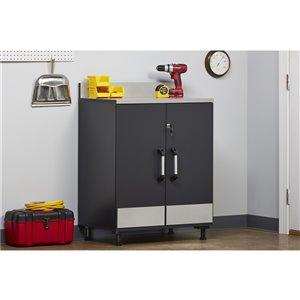 Armoire de plancher 2-portes Boss de System Build, 19,69 po x 29,69 po x 40,88 po, gris anthracite