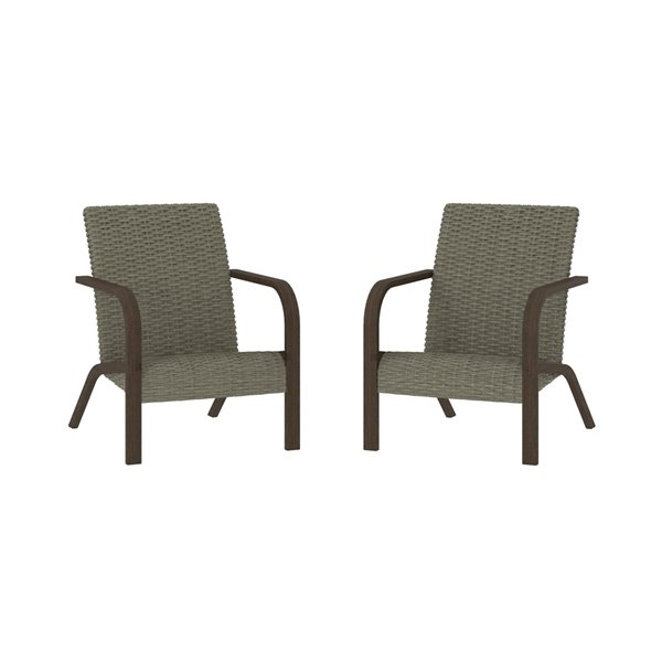 Cosco Outdoor Living SmartWick Patio Lounge Chairs - Gray - 2-Pk