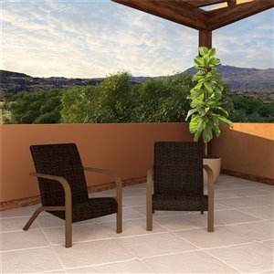 Cosco Outdoor Living SmartWick Patio Lounge Chairs - Dark Brown - 2-Pk