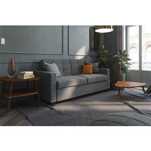 Canapé avec matelas mousse mémoire, grand, gris