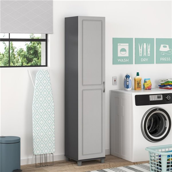 System Build Kendall Utility Storage Cabinet - 11.75-in x 29.69-in x 21-in - Gray