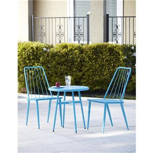 Novogratz Outdoor Living Stella 3-Piece Bistro Set - Teal