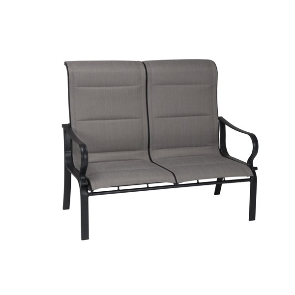 Cosco Outdoor Living SmartConnect Loveseat & Coffee Table - Dark Gray