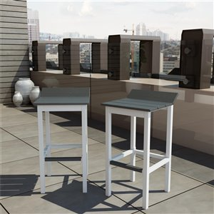 CosmoLiving by Cosmopolitan Ariesa Collection Bar Stools - White/Gray - 2-Pk