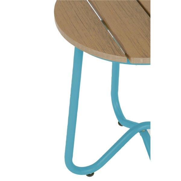 Novogratz Poolside Gossip Collection Bobbi Bistro Stools - Turquoise - 2-Pk