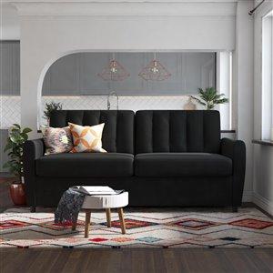 Dorel Novogratz Brittany Sleeper Sofa with Memory Foam Mattress - Queen - Gray