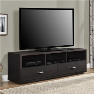 Ameriwood Home Clark TV Stand for TVs up to 70-in - 59.6-in x 14.8-in x 18.9-in - Espresso