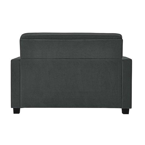Dorel Signature Casey Loveseat Sofa Sleeper - Twin - Gray