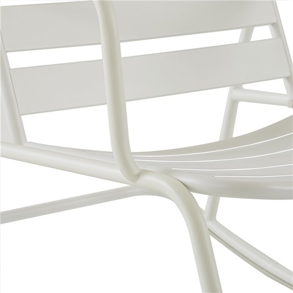 Chaise berceuse pour patio Gossip Roberta de Novogratz, blanc