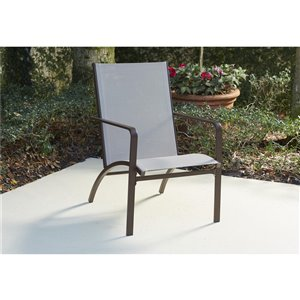 Cosco Outdoor Living Stone Lake Patio Lounge Chairs - Brown - 2-Pk