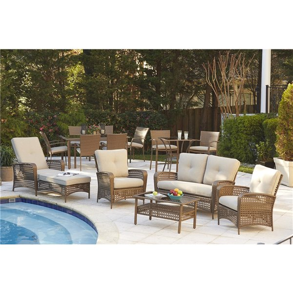 Cosco Outdoor Living Lakewood Ranch Lounge Chairs - Beige - 2-Pk