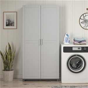 System Build Callahan Utility Storage Cabinet - 15.38-in x 35.68-in x 74.31-in - Gray