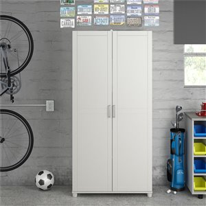 System Build Callahan Utility Storage Cabinet - 15.39-in x 23.7-in x 75-in - White