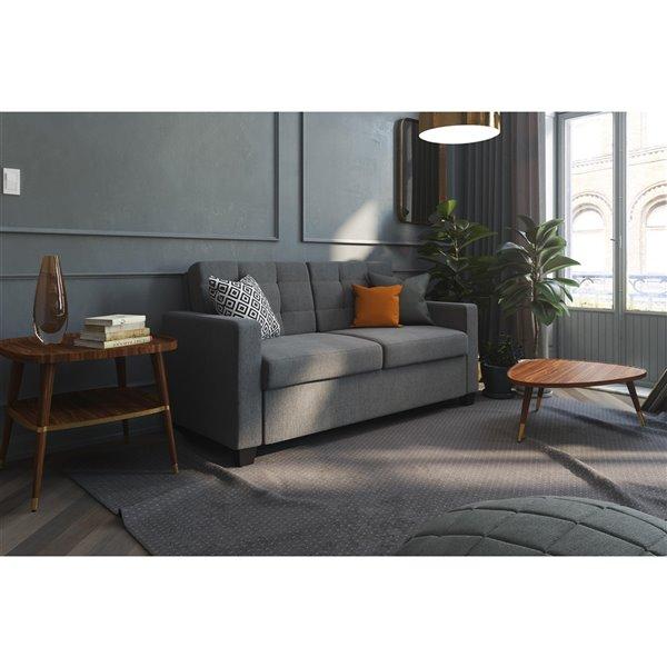 Dorel Signature Devon Sleeper Sofa with Memory Foam Mattress - Full - Gray