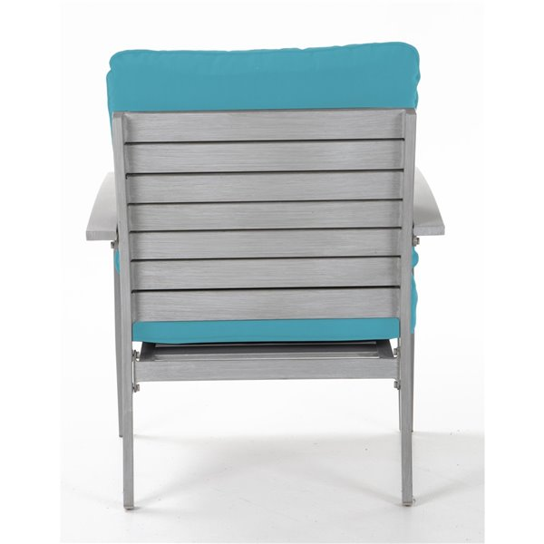 Cosco Blue Veil Hand Painted Patio Lounge Chairs - Turquoise - 2-Pk