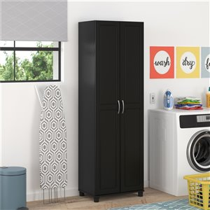 System Build Kendall Utility Storage Cabinet - 15.38-in x 23.69-in x 75-in - Black