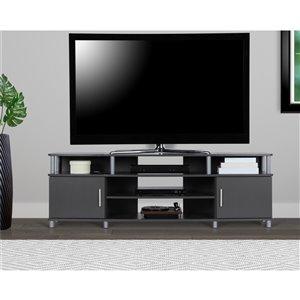 Meuble pour téléviseur jusqu'à 70 po Carson, 63 po x 15,75 po x 20,5 po, gris graphite