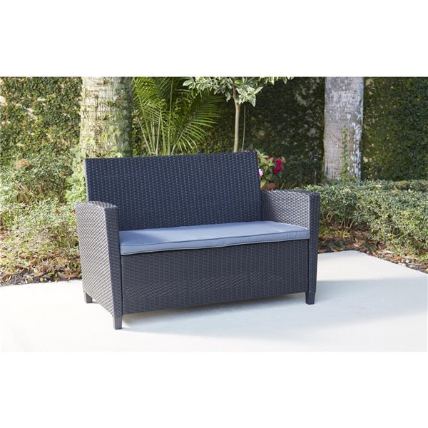 Cosco Outdoor Living 4-Piece Malmo Conversation Set - Black