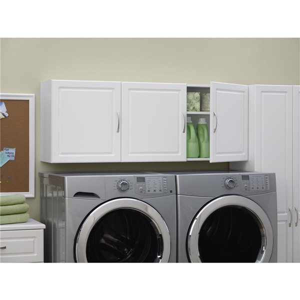 System Build Kendall Wall Cabinet - 15.38-in x 35.69-in x 74.31-in - White