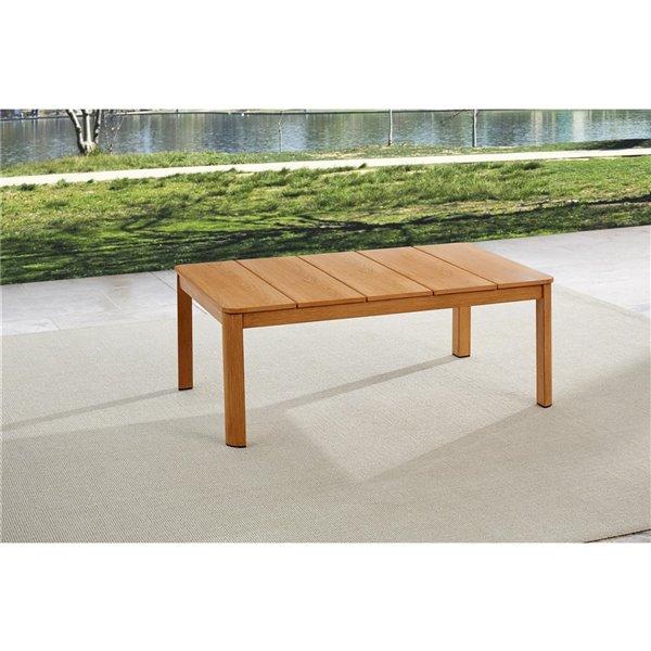 Cosco Outdoor Living Deep-Seating Patio Sofa & Coffee Table - Beige