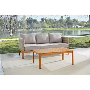 Cosco Outdoor Living Deep-Seating Patio Sofa & Coffee Table - Beige