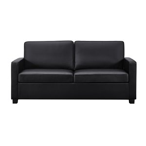 Dorel Signature Casey Loveseat Sofa Sleeper - Full - Black
