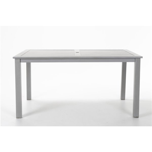 Cosco Outdoor Living Patio Dining Table - 59.45-in x 35.83-in - Light Gray