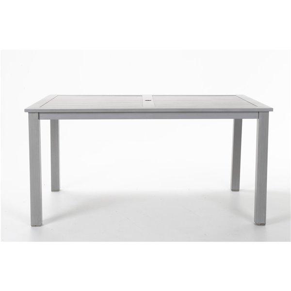 Table à manger extérieure Cosco Outdoor Living, 59,45 po x 35,83 po, gris clair