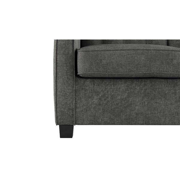 Dorel Signature Sleep Avery Loveseat Sleeper Sofa with Memory Foam Mattress - Twin - Gray