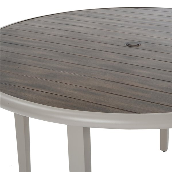 Table à manger Santa Fe de Novogratz Outdoor Living, 49,1 po x 14,1 po, brun